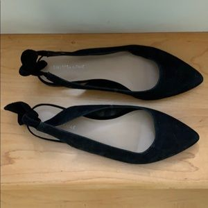Saks Fifth Avenue Brand Black Suede Flats